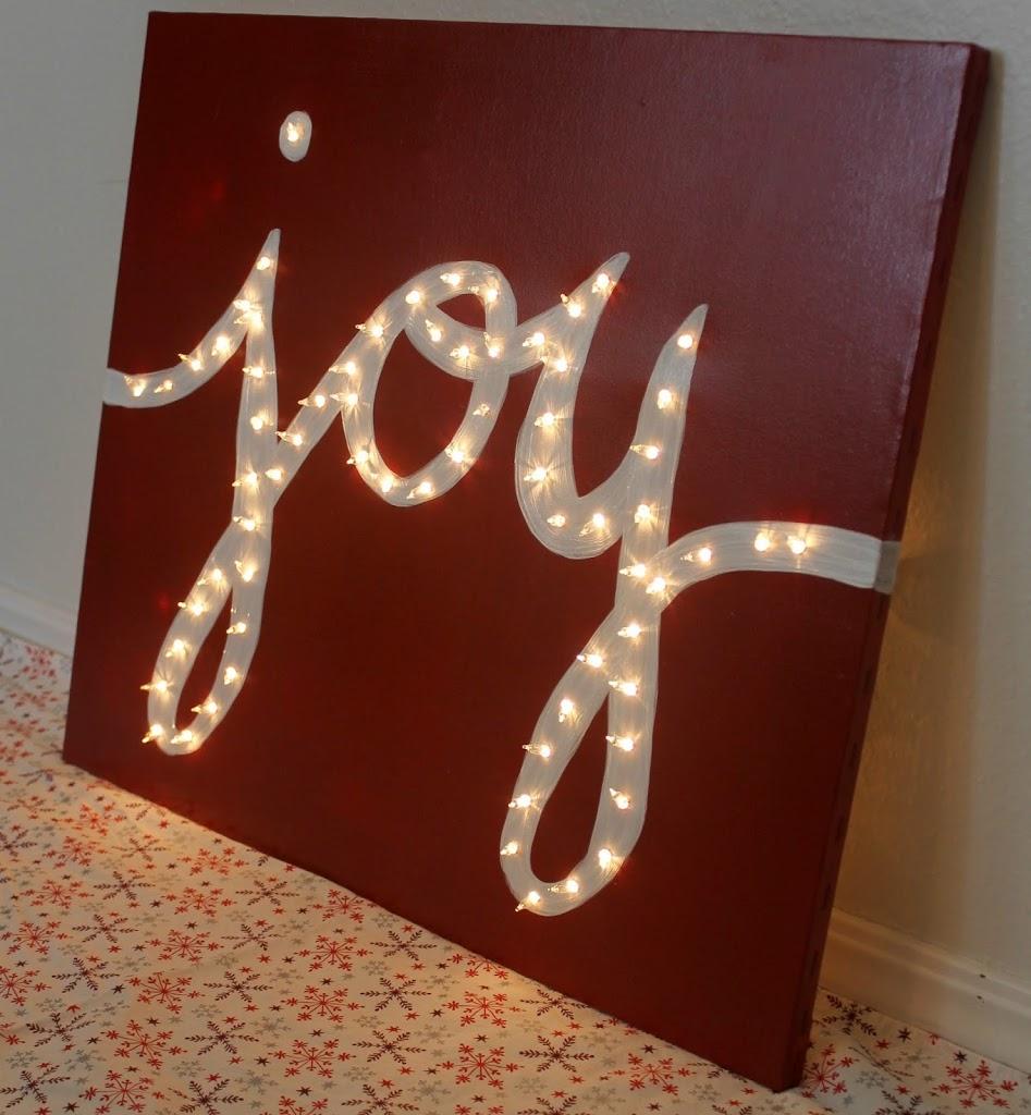 "Holiday ""JOY"" Light Marquis Canvas"