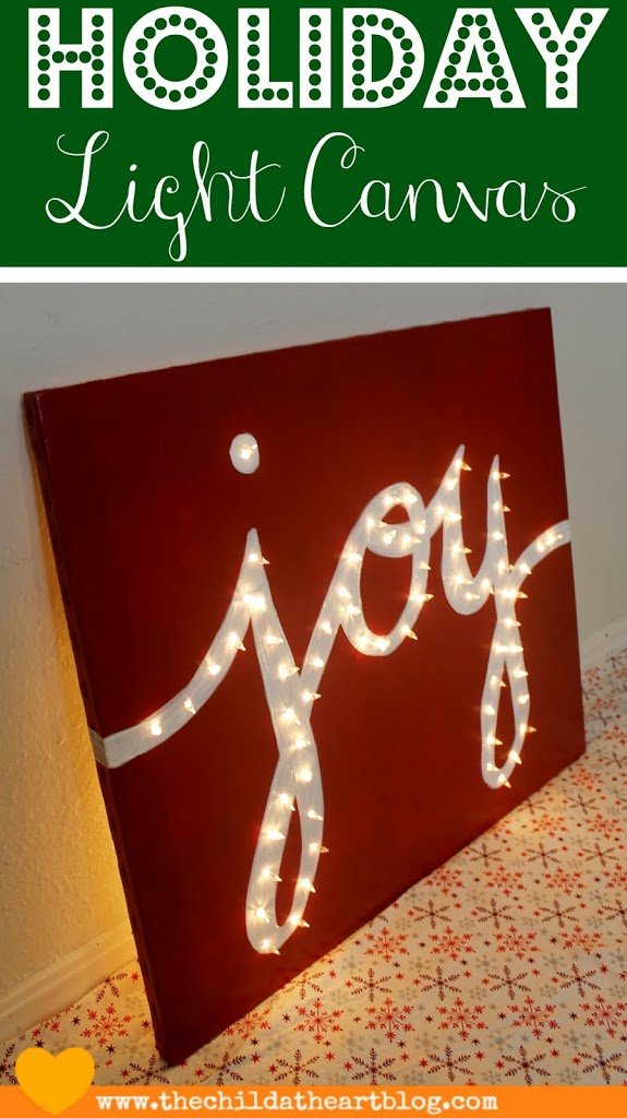 Holiday Light or Marquee Canvas JOY