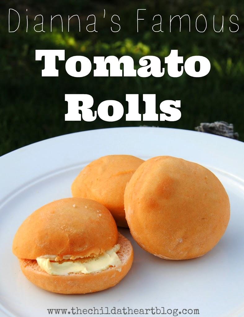 Christmas Tomato Rolls Thanksgiving Tomato Rolls