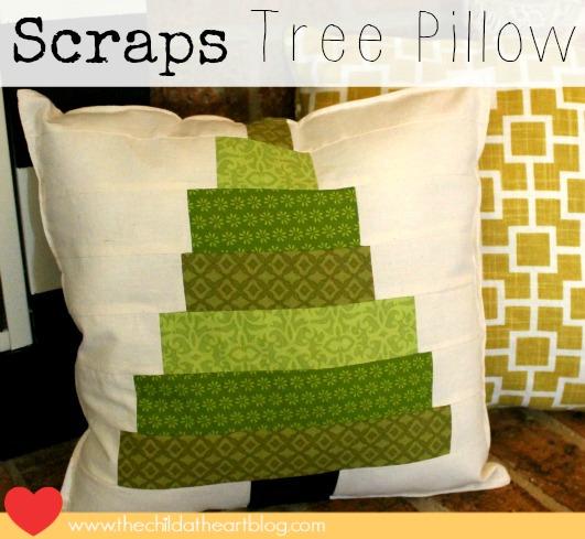 Scraps Christmas Tree Pillow Sewing Tutorial