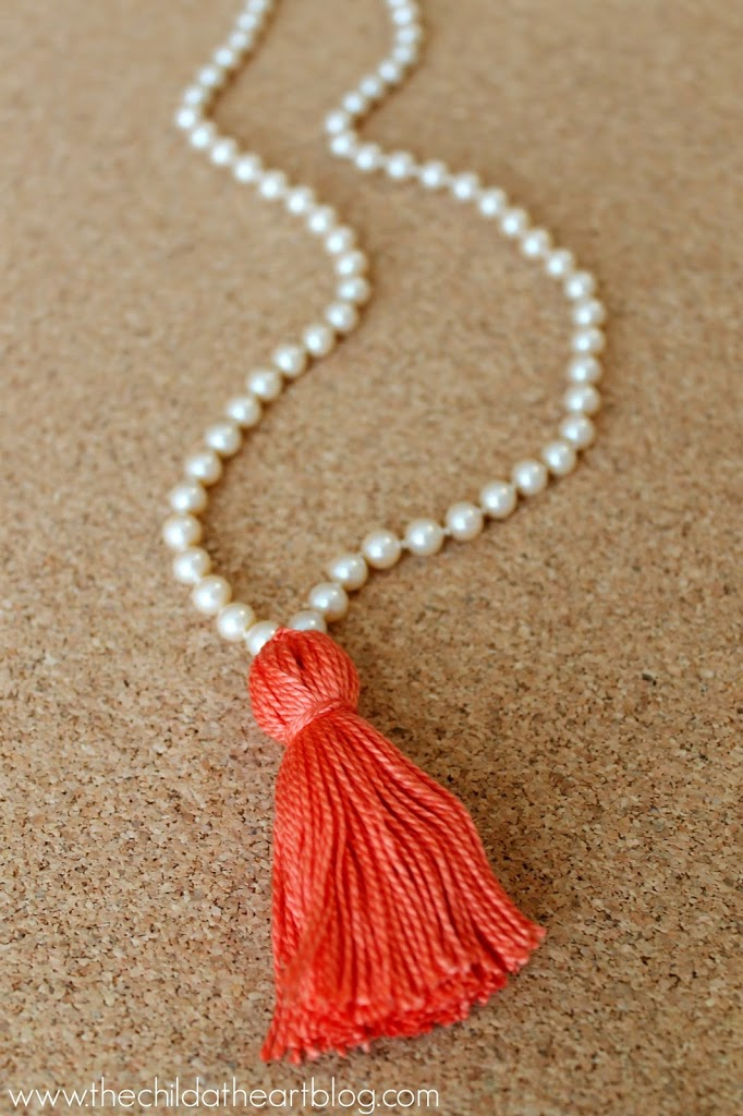 DIY Pearl Tassel Necklace Tutorial
