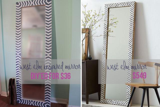 DIY Full Length Floor Mirror Tutorials:  Child at Heart
