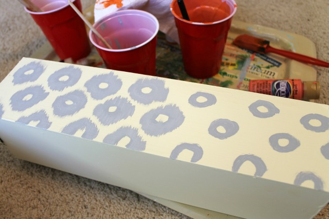 DIY Circle Ikat Storage Box