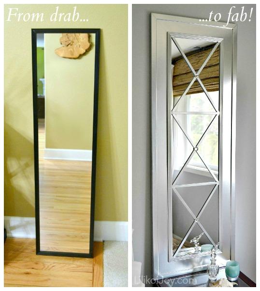 Best DIY Full Length Floor Mirror Tutorials:  Child at Heart