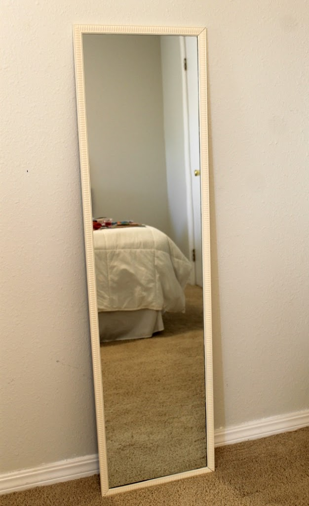 How to turn a cheap mirror into a full length floor mirror