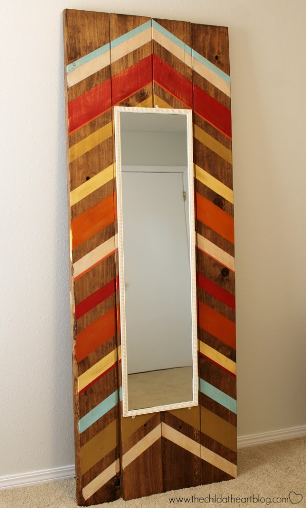 DIY Full Length Floor Mirror