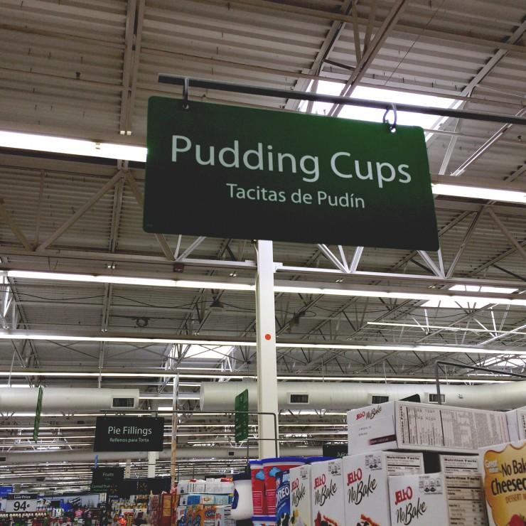 Walmart Pudding Cups Aisle