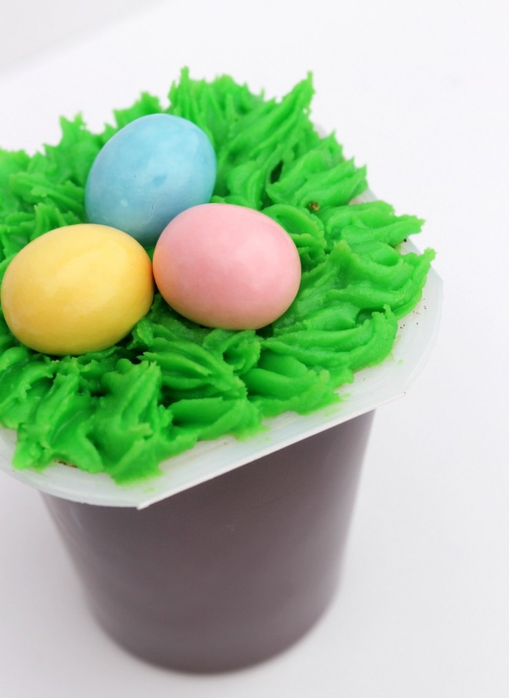 Easter Pudding Cup Craft Ideas with Snack Pack:   Child at Heart