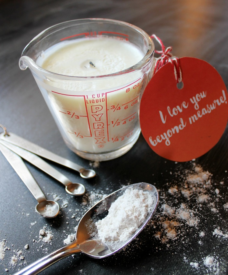 I Love You Beyond Measure Printable Gift Tag and Candle Recipe