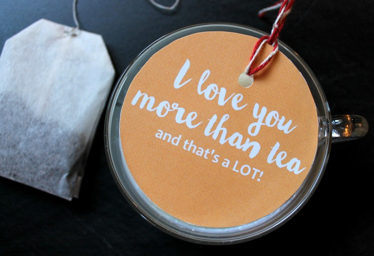 I Love You More Than Tea...and That's A LOT!  Printable Gift Tag and Candle Recipe:   Child at Heart