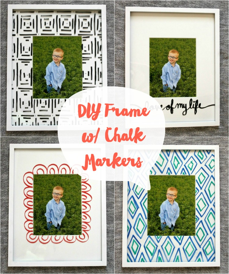 Use Chalk Markers to Update a White Frame:  Child at Heart