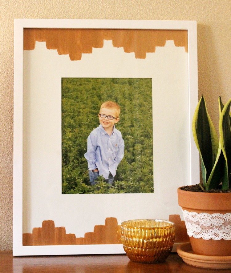 Copper Aztec DIY Picture Frame:  Child at Heart