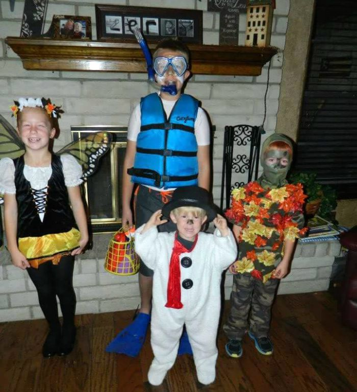 DIY Seasons Group Halloween Costume Idea: Child at Heart Blog