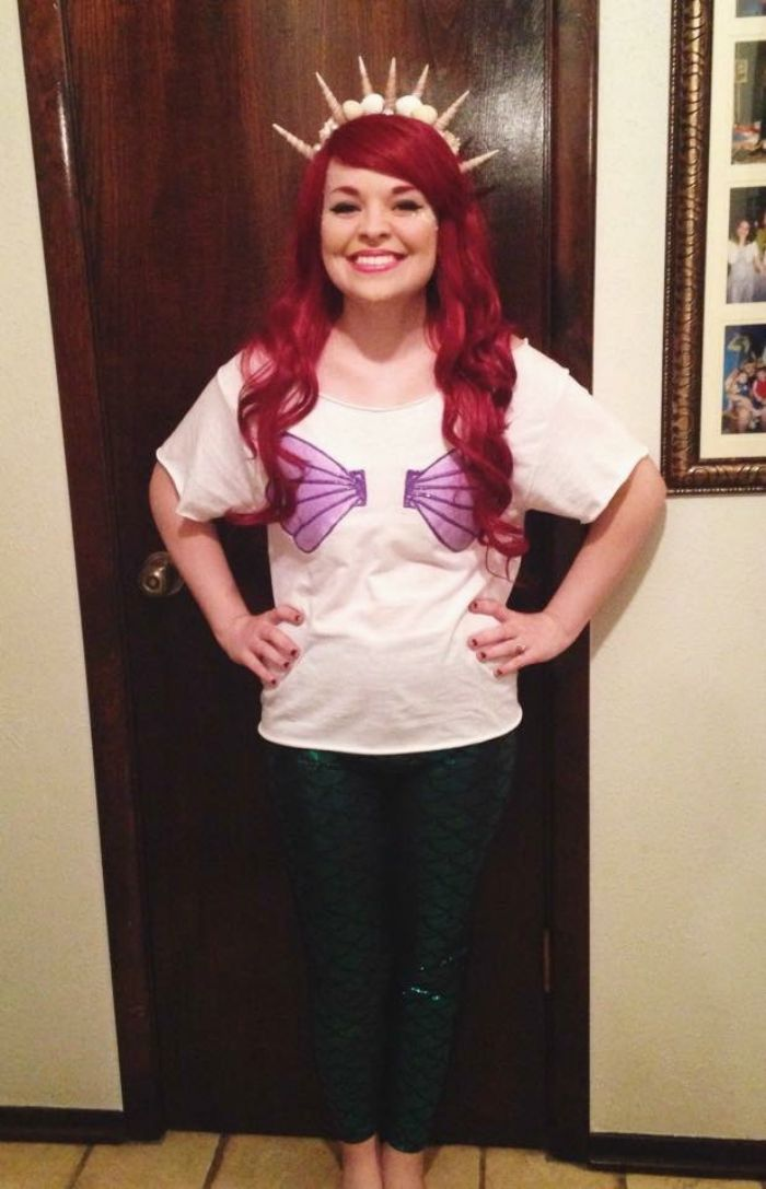 DIY Little Mermaid Ariel Halloween Costume Idea: Child at Heart Blog