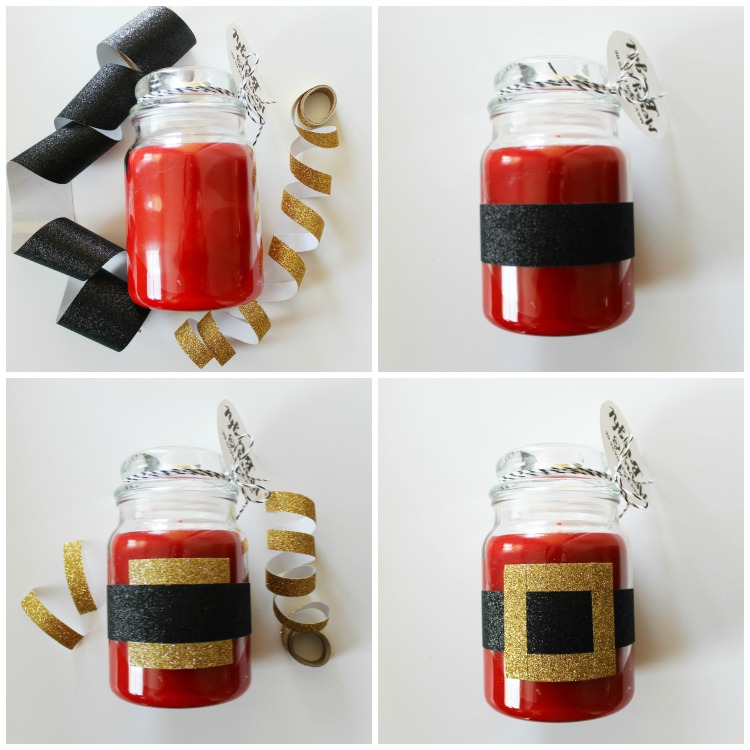 """Washi Tape Santa Candle and FREE """"Merry and Bright"""" Printable Gift Tags: Child at Heart Blog"""