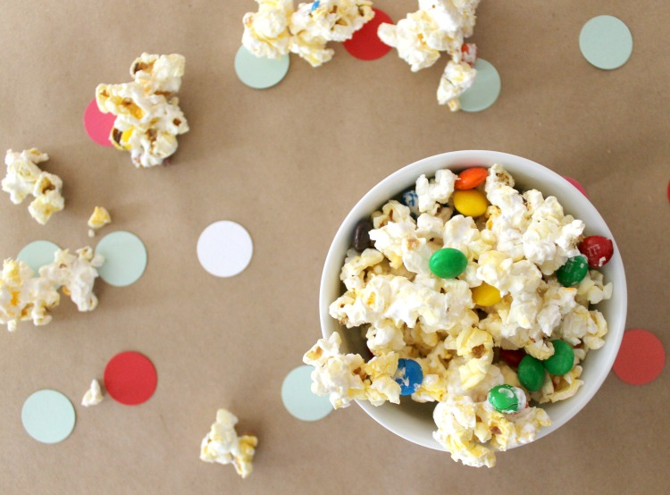 Snowflake Popcorn Recipe + Family Movie Night Party Ideas: Child at Heart Blog