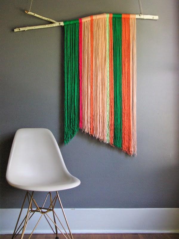 Easy DIY Yarn Art Wall Hanging Ideas: Child at Heart Blog