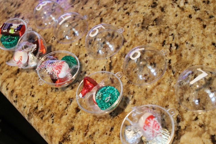 Candy Ornament DIY Advent Calendar for Kids: Child at Heart Blog