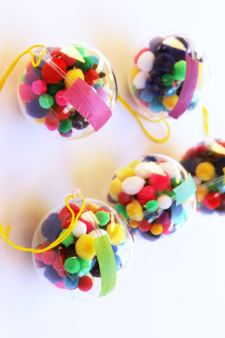 Pom Pom Ornament Craft for Kids: Child at Heart Blog