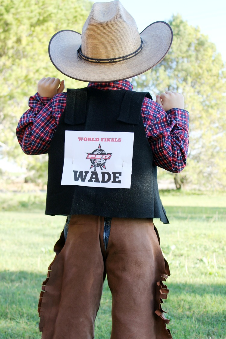 DIY Rodeo Cowboy Bull Rider Halloween Costume Idea: the Child at Heart blog