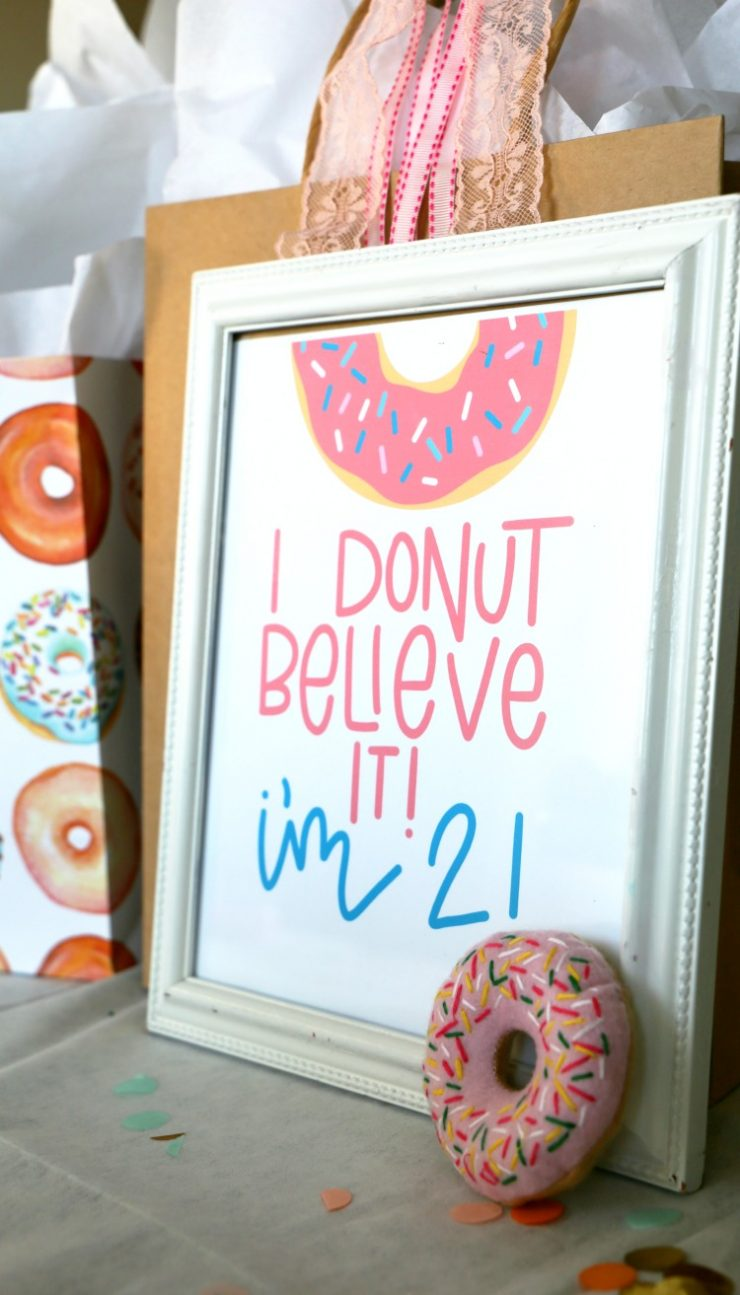Donut Birthday Party Ideas and Printable: the Child at Heart blog