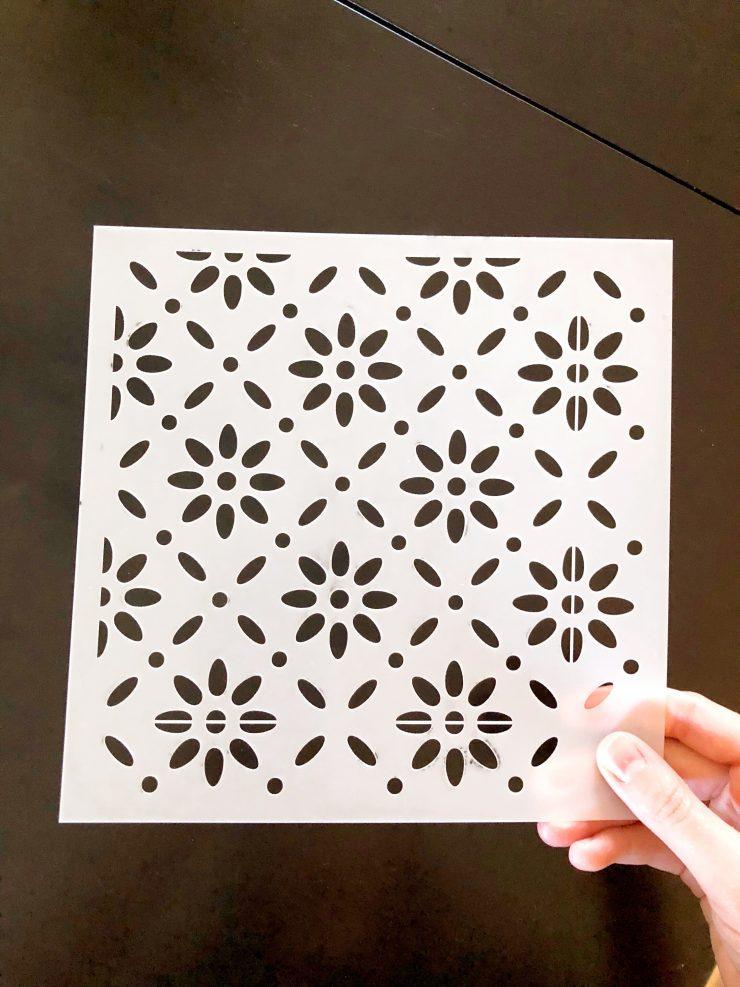 Tile Stencil from Stencil Revolution