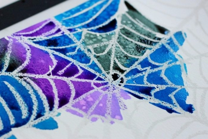 spider web watercolor art
