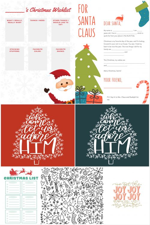 Free Christmas Printables Bundle