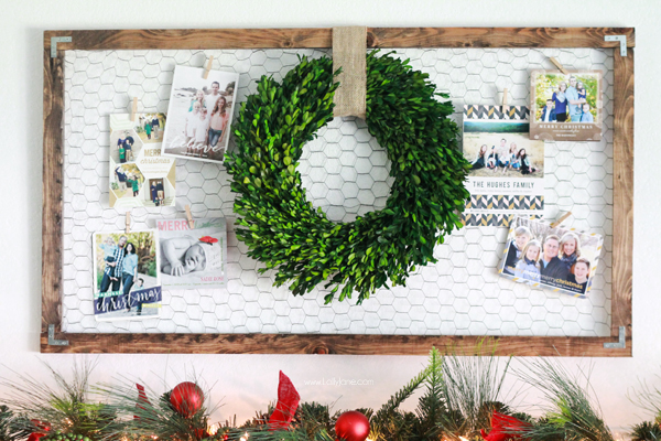 Christmas Card Photo Display Ideas