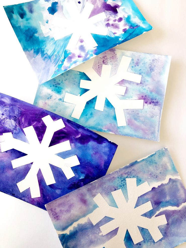 Watercolor Snowflake Craft Tutorial for Kids