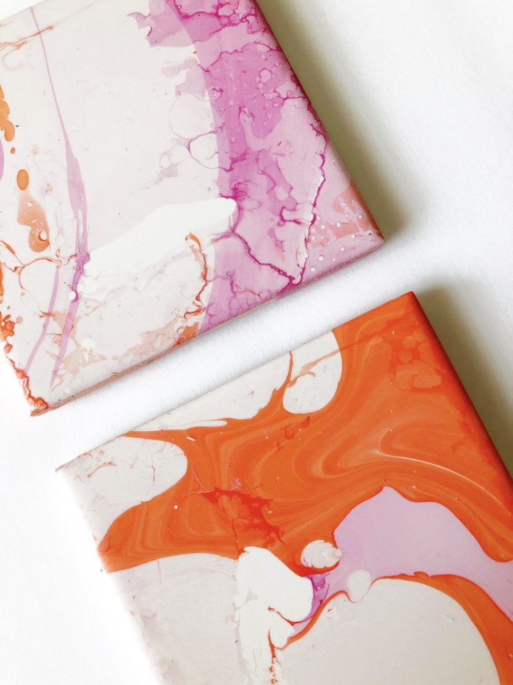 DIY Marbled Coaster Tutorial + Video