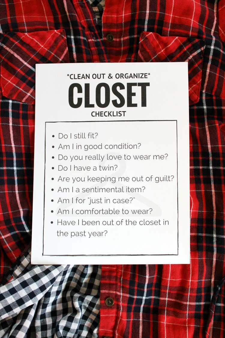 How to Clean Out and Organize your Closet + FREE Printable: Child at Heart Blog
