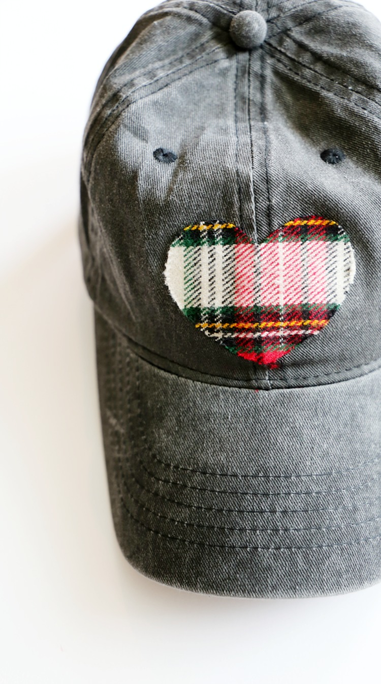 DIY Flannel Heart No-Sew Baseball Hat: the Child at Heart blog