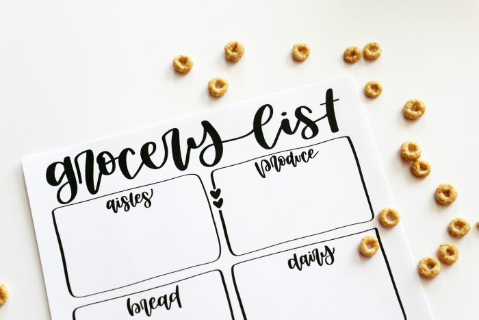 FREE Grocery List and Menu Printables from the Child at Heart blog
