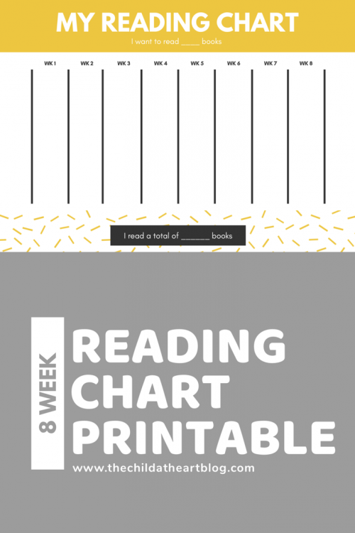 8 Week Reading Chart Printable for Kids