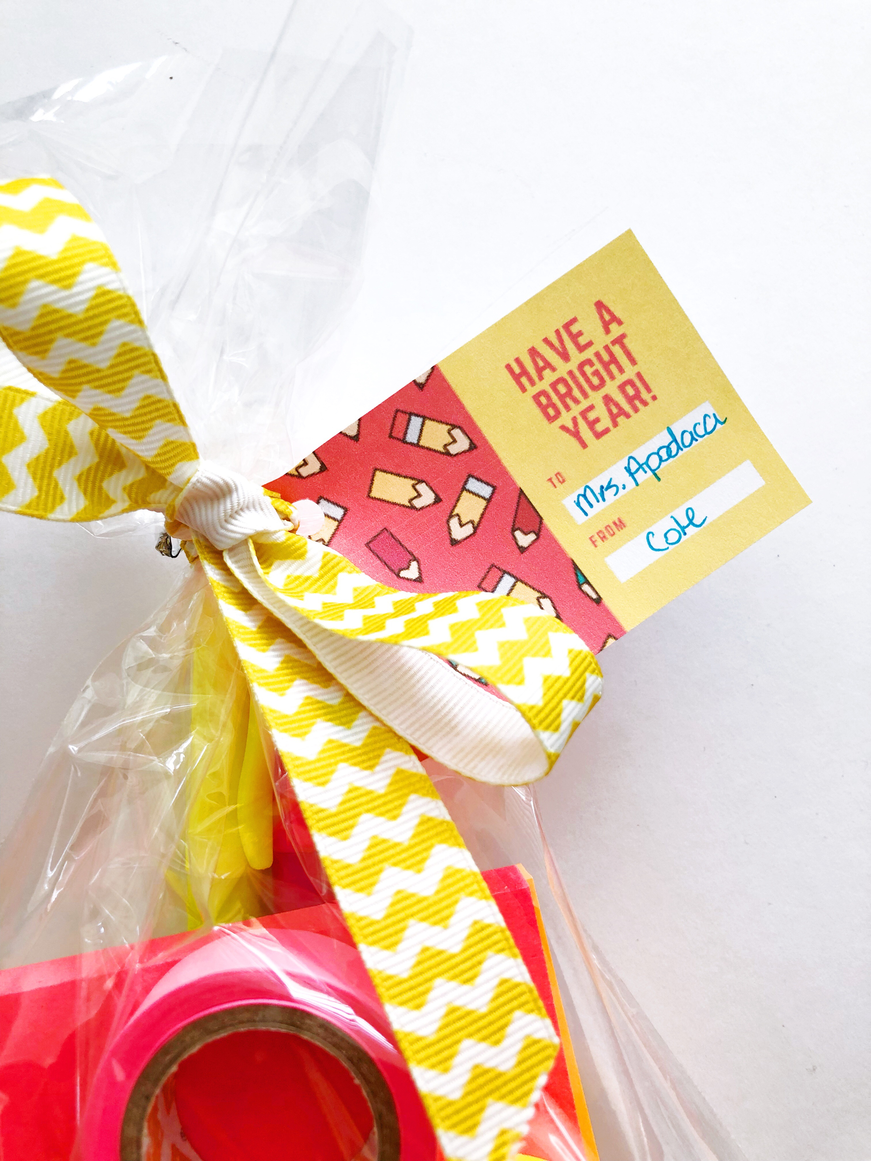 """""""Have a Bright Year"""" Free Printables for Back to School Teacher Gifts"""