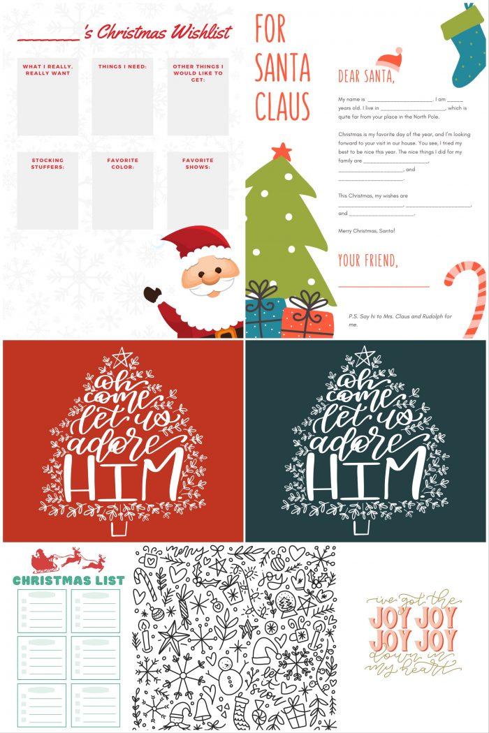 Free Christmas Printables Bundle