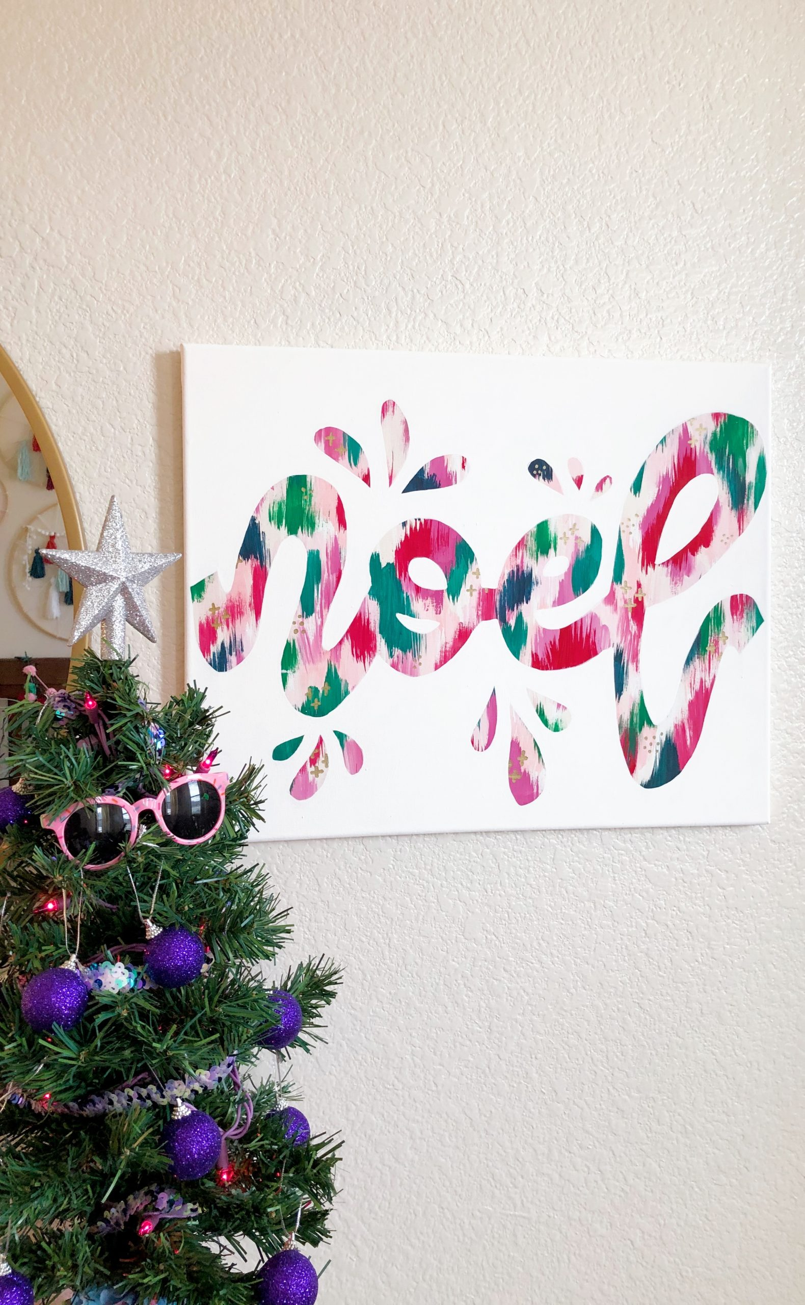Abstract Word Art Canvas Tutorial
